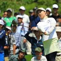 大ギャラリーに囲まれて少し緊張もあったでしょうか。 2018年 ヨネックスレディスゴルフトーナメント 最終日 石川明日香