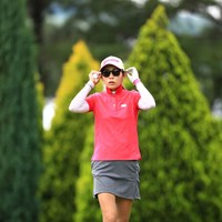 サングラス似合う? 2018年 サントリーレディスオープンゴルフトーナメント 初日 金田久美子