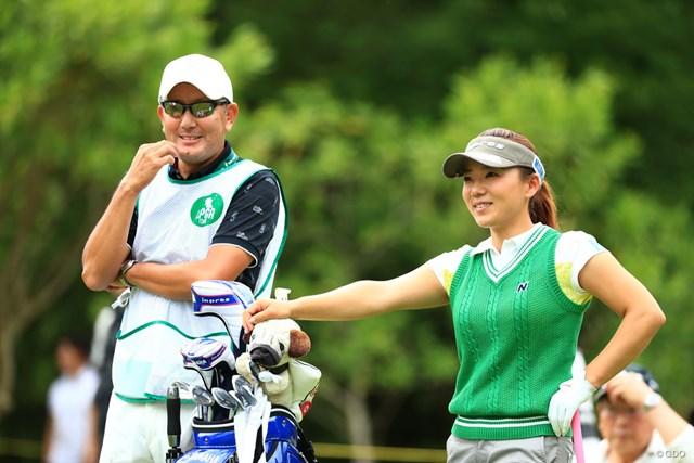 2018年 宮里藍 サントリーレディスオープンゴルフトーナメント 初日 有村智恵 久しぶりに笑顔を見たような気がする