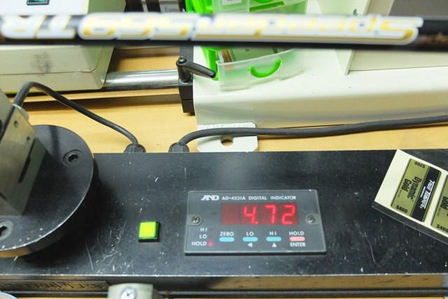 センターフレックス値は4.72。50グラム台のSとしては高めの数値