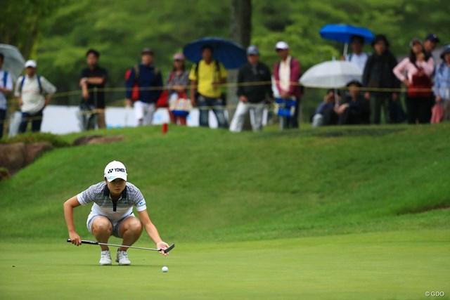 2018年 サントリーレディスオープンゴルフトーナメント 2日目 森田遥 前半「29」も後半は1アンダー止まり。「64」もちょっぴり悔しがった森田遥