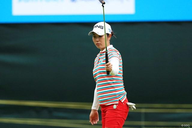 2018年 サントリーレディスオープンゴルフトーナメント 2日目 比嘉真美子 現在賞金ランキング2位の比嘉真美子。鈴木愛がいない間に差を詰められるか?
