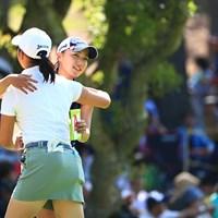 ひょっこりはん? 2018年 サントリーレディスオープンゴルフトーナメント 3日目 宮田成華