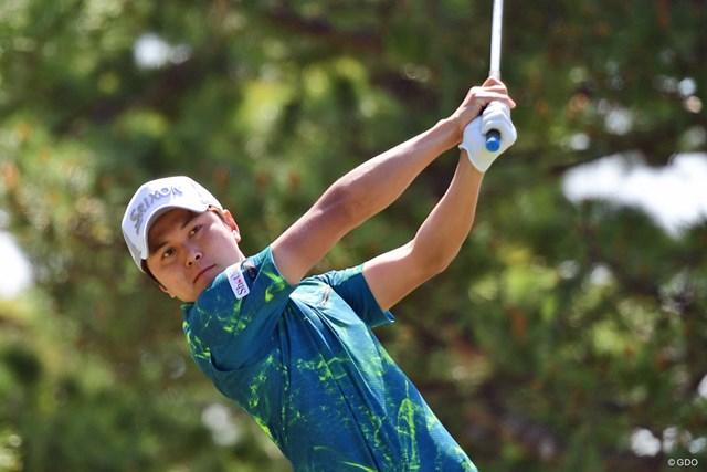 「結果にとらわれず、楽しくゴルフを」と大堀裕次郎