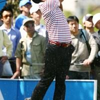 猛チャージを見せた川原希とともに首位に立った片山晋呉 2006年 中日クラウンズ 2日目 片山晋呉