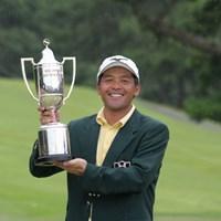 2003年以来の優勝を地元で果たした手嶋多一 2006年 アンダーアーマーKBCオーガスタゴルフトーナメント 最終日 手嶋多一