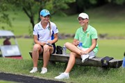2018年 トヨタ ジュニアゴルフワールドカップSupported by JAL 3日目 マティデ マリア トロヤニ(イタリア)とケイトリン マックナブ(南アフリカ)