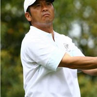 8アンダーをマークし単独首位スタートを切った真板潔 2006年 ブリヂストンオープンゴルフトーナメント 初日 真板潔