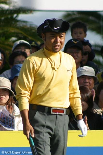 8アンダーで藤田寛之、J.M.シンと並び首位に浮上した片山晋呉※写真はカシオワールドオープン時