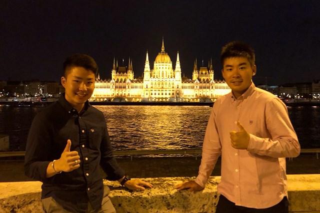 オープンウィークに高校時代の後輩(左)とヨーロッパ旅行に行ってきました