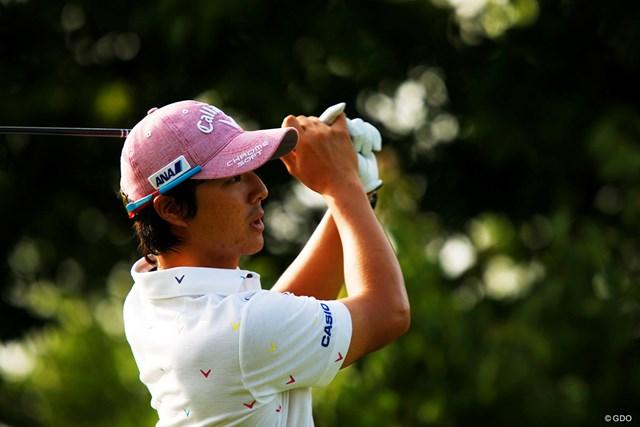 石川遼はトップと3打差で初日を終えた