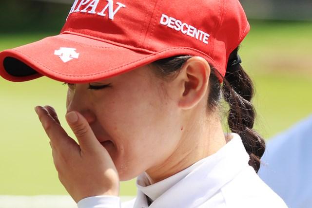 2018年 日本女子アマチュア選手権 吉田優利 ホールアウト後はうれし涙が止まらなかった
