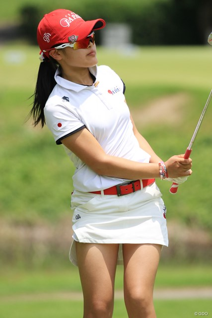 昨年の日本女子オープンで3位に入った小倉彩愛は9位タイ