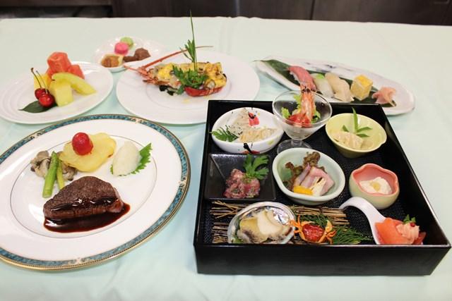ダイヤモンドボックスシートで提供される「ホテル椿山荘東京」プロデュースのコース料理 ※大会提供
