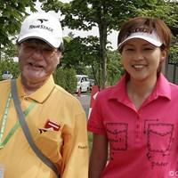 4アンダー2位タイスタートをきった赤堀奈々。師匠、宮里優さんの前で好スコアをマークした 2006年 リゾートトラストレディス 初日 赤堀奈々