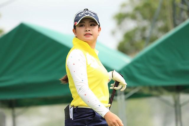 2018年 Skyレディース ABC杯 初日 河本結 首位で発進した河本結※日本女子プロゴルフ協会提供