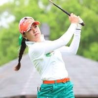 河本結はスコアを伸ばせず、イ・ナリに首位タイで並ばれた※日本女子プロゴルフ協会 2018年 Skyレディース ABC杯 2日目 河本結