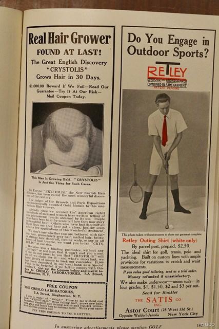 100年以上前から育毛の広告がある