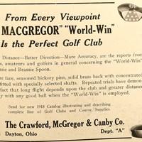 100年前のゴルフクラブの広告も飛距離や安定感を売りにしていた ゴルフクラブ広告