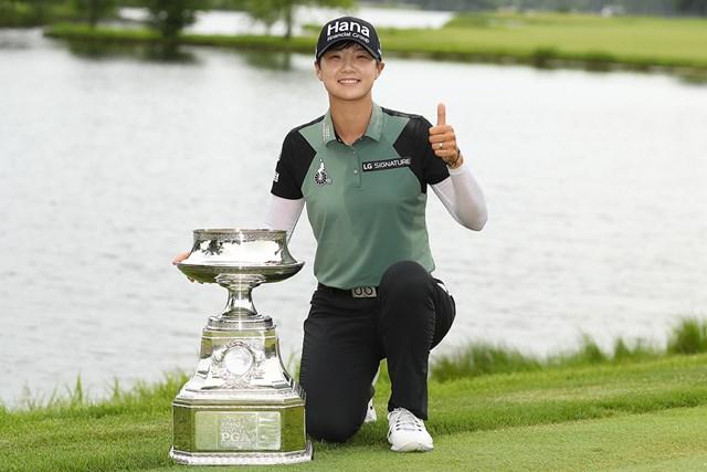 2018年 KPMG女子PGA選手権 最終日 パク・ソンヒョン うれしいメジャー2勝目をあげたパク・ソンヒョン(Gregory Shamus/Getty Images)