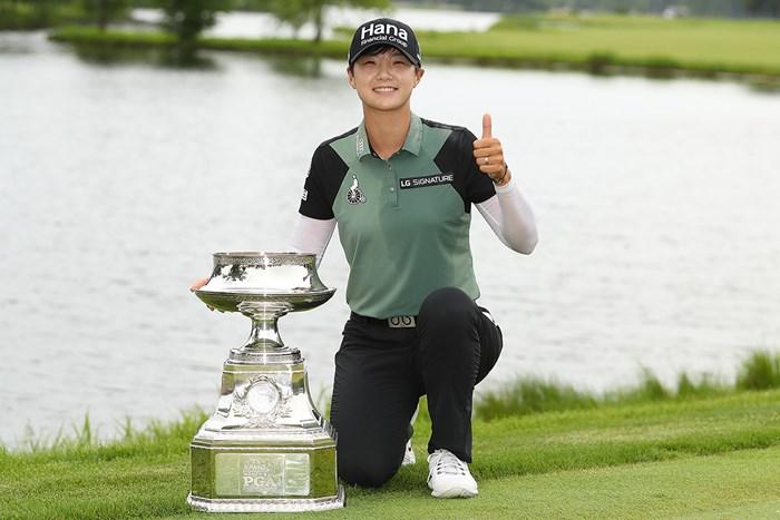 うれしいメジャー2勝目をあげたパク・ソンヒョン(Gregory Shamus/Getty Images) 2018年 KPMG女子PGA選手権 最終日 パク・ソンヒョン