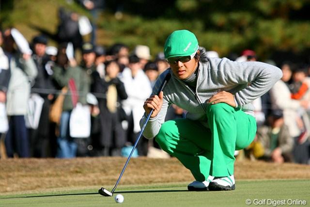 2009年 ゴルフ日本シリーズJTカップ 2日目 石川遼 初日はドライバー、2日目はショートゲームが不調。最下位から抜け出せなかった石川遼