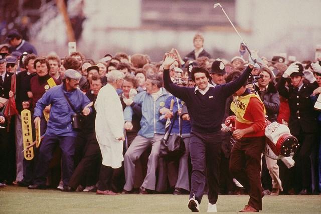 「全英オープン」は1979年に初制覇。セベのプレーは人々を惹きつけた(Steve Powell /Allsport)