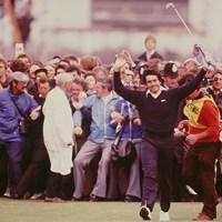 「全英オープン」は1979年に初制覇。セベのプレーは人々を惹きつけた(Steve Powell /Allsport) 1979年 全英オープン 最終日 セベ・バレステロス
