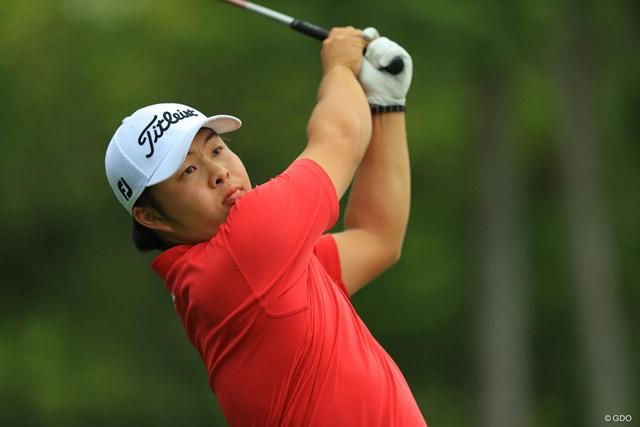 後続に7打差をつけトップにいた今野大喜だったが、競技は不成立になった(※撮影は2017年「日本オープンゴルフ選手権競技」)