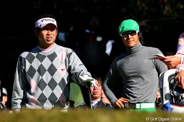 初日に続き同組となった石川遼と池田勇太。ファンにとっては楽しみが続いた