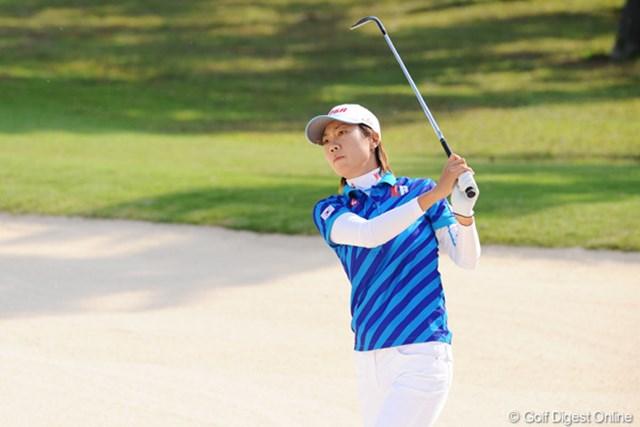 麗しの韓流レディ特集 イ・チヒ 韓国チームのキャプテンはチヒ姐さん。きっちり5アンダーでチームを引っ張っておられました。参りました・・・。