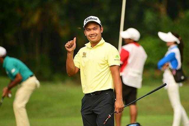 首位タイで決勝に進んだナティポン・スリトン※アジアンツアー提供