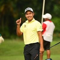 首位タイで決勝に進んだナティポン・スリトン※アジアンツアー提供 2018年 インドネシアオープン 2日目 ナティポン・スリトン