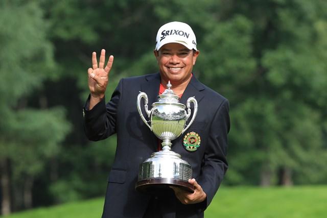 独走で大会3連覇を飾ったP.マークセン ※写真提供:日本ゴルフ協会