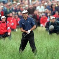 """""""カーヌスティの悲劇""""の主人公バンデベルデ。最終日18番まで3打差を保ちながら、トリプルボギーで失った。バリーバーンに入れた後の5打目は深いラフから(Popperfoto/Getty Images) 1999年 全英オープン ジャン・バンデベルデ"""