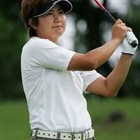 初日5アンダーをマークし、単独首位に立った新坂上ゆう子 2006年 フィランソロピー・LPGAプレーヤーズ・チャンピオンシップ 初日 新坂上ゆう子