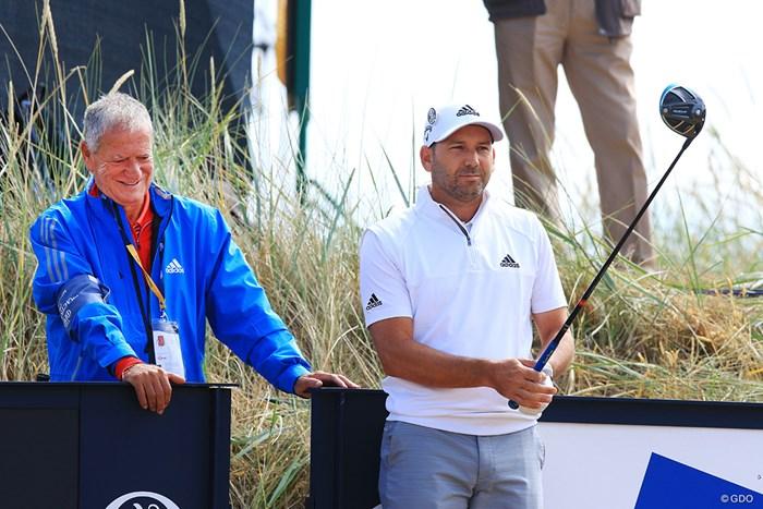 お父さんのビクター(左)が見守る風景は、マスターズチャンピオンになっても変わらない 2018年 全英オープン 事前 セルヒオ・ガルシア