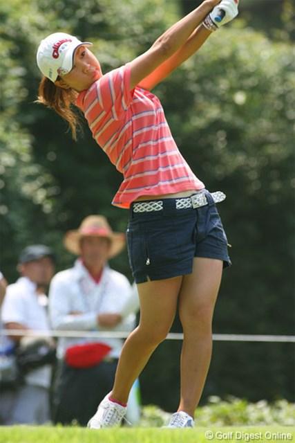 2006年 クリスタルガイザーレディスゴルフトーナメント 最終日 上田桃子 終盤に見せ場をつくり、3位タイに入った上田桃子