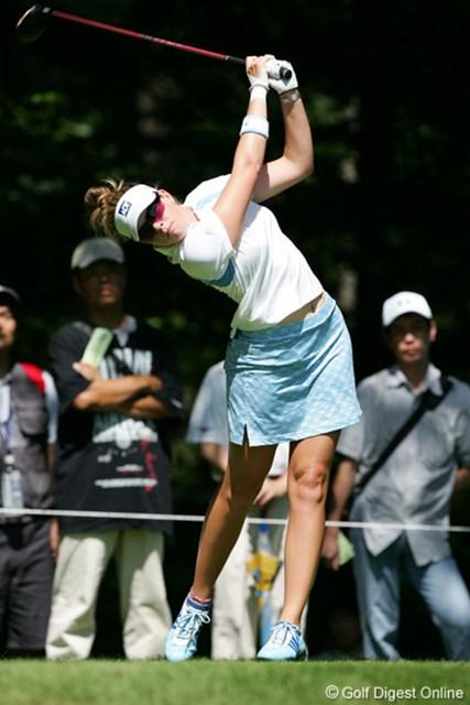 2006年 NEC軽井沢72ゴルフトーナメント 初日 ポーラ・クリーマー 全英の疲れを見せないポーラ・クリーマー。初日は1バーディと静かなスタートをきった