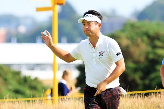 好位置で初日を終えた池田勇太