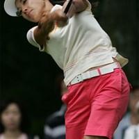前半9ホールで5つのバーディを奪いトップタイに立った小俣奈三香 2006年 NEC軽井沢72ゴルフトーナメント 2日目 小俣奈三香