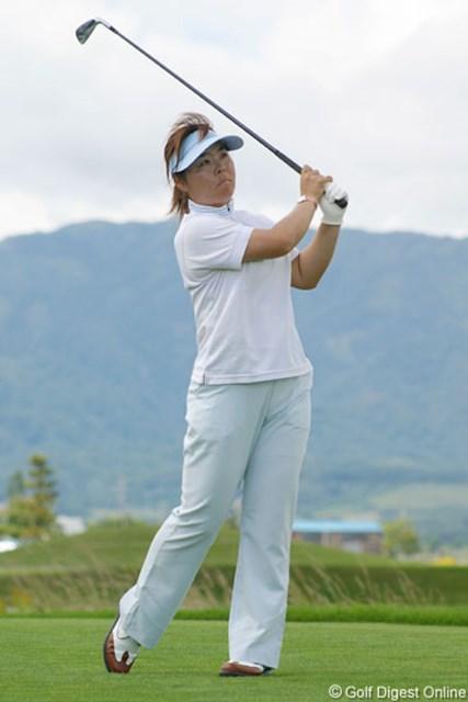 2006年 ゴルフ5レディスプロゴルフトーナメント 初日 不動裕理 復帰戦でいきなり5アンダーをマークした不動裕理