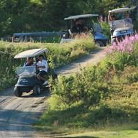 運転も重要 カート/24時間ゴルフ