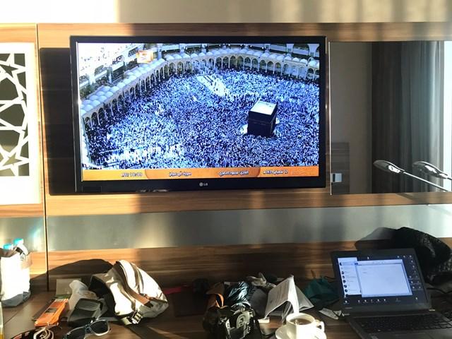 2018年 聖地メッカのライブ映像 サウジアラビアのテレビでは、1日中聖地メッカのライブ映像を流しているチャンネルがある