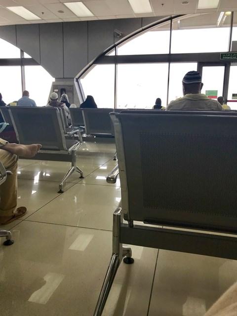 2018年 ジェッダ空港にて 写真を撮るのも遠慮しながら…。