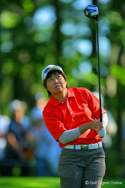 2006年 日本女子プロゴルフ選手権大会コニカミノルタ杯 2日目 肥後かおり 1ホール残し2日目を終えたが、6アンダーの宮里を捕らえた肥後かおり