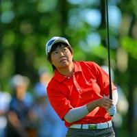 1ホール残し2日目を終えたが、6アンダーの宮里を捕らえた肥後かおり 2006年 日本女子プロゴルフ選手権大会コニカミノルタ杯 2日目 肥後かおり