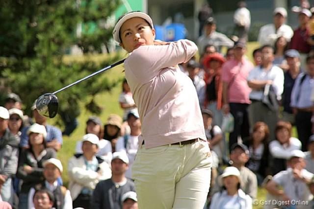 2006年 ミヤギテレビ杯ダンロップ女子オープンゴルフトーナメント 2日目 坂東貴代 2日間首位をキープする坂東貴代。2002年以来の優勝なるか!?