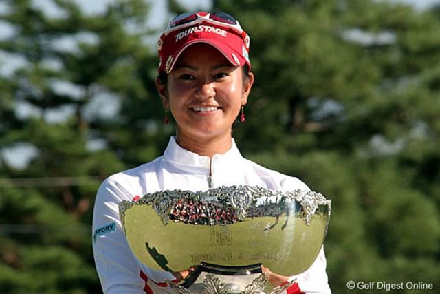 2006年 ミヤギテレビ杯ダンロップ女子オープンゴルフトーナメント 最終日 宮里藍 第2の故郷 宮城での今大会は優勝したかった!という宮里藍。思い出の地で3年ぶりの優勝を果たした