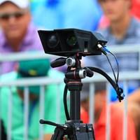これでドラコンの飛距離を計っている 2018年 全米プロゴルフ選手権 事前 測定器